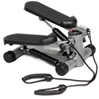 GYMAX Aerobic Exercise Mini Stepper Swing Machine Ropes Fitness Workout W/Training Cord Arms Leg