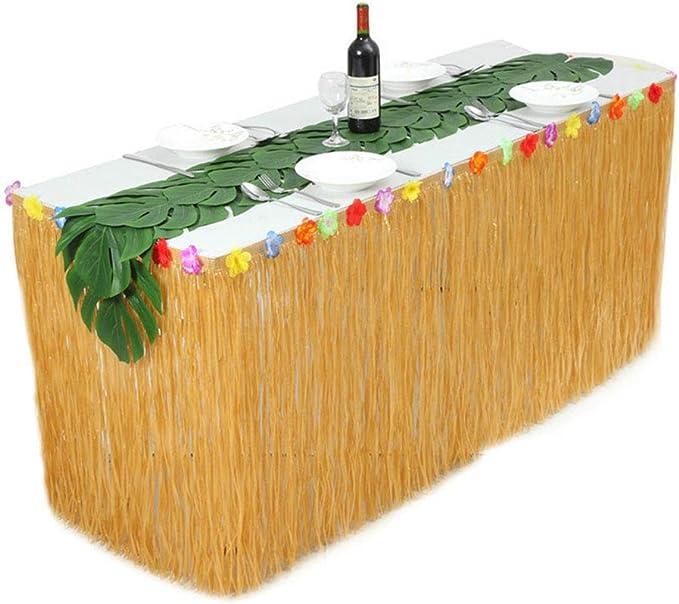 Falda de Mesa Tul Tutu Mantel Tabla Hawaiana de césped Artificial ...