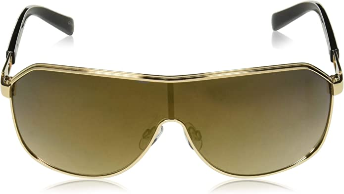 Rocawear Mens R1490 Gldbk Non-Polarized Iridium Shield Sunglasses Gold Black 75 mm