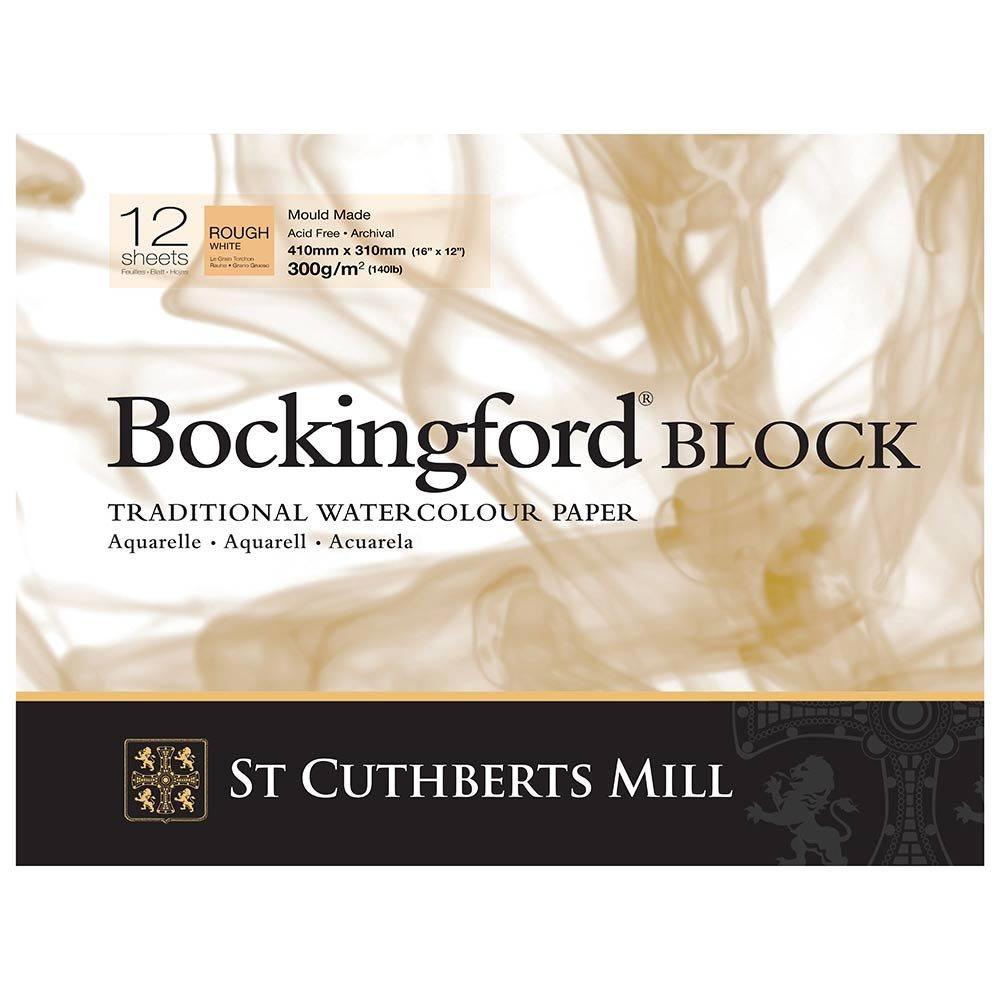 Bockingford Watercolour Block 140lb/300gms 10x14/254x355mm Rough R K Burt & Co Ltd