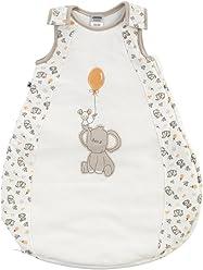 Jacky Mädchen und Jungen Baby Sommer Schlafsack Ärmellos, 100% Baumwolle, Off White/All over Print, Gr. 62/68, 324104