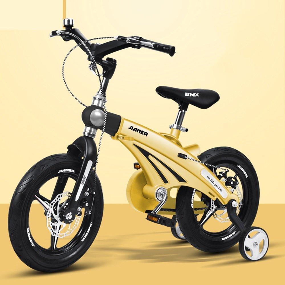 美しい 家スケーラブルな子供用自転車、3歳のベビーカー、子供用自転車、自転車、マウンテンバイク (色 : イエロー いえろ゜, サイズ さいず : 85*38*64cm) B07CXZBL7Xイエロー いえろ゜ 85*38*64cm