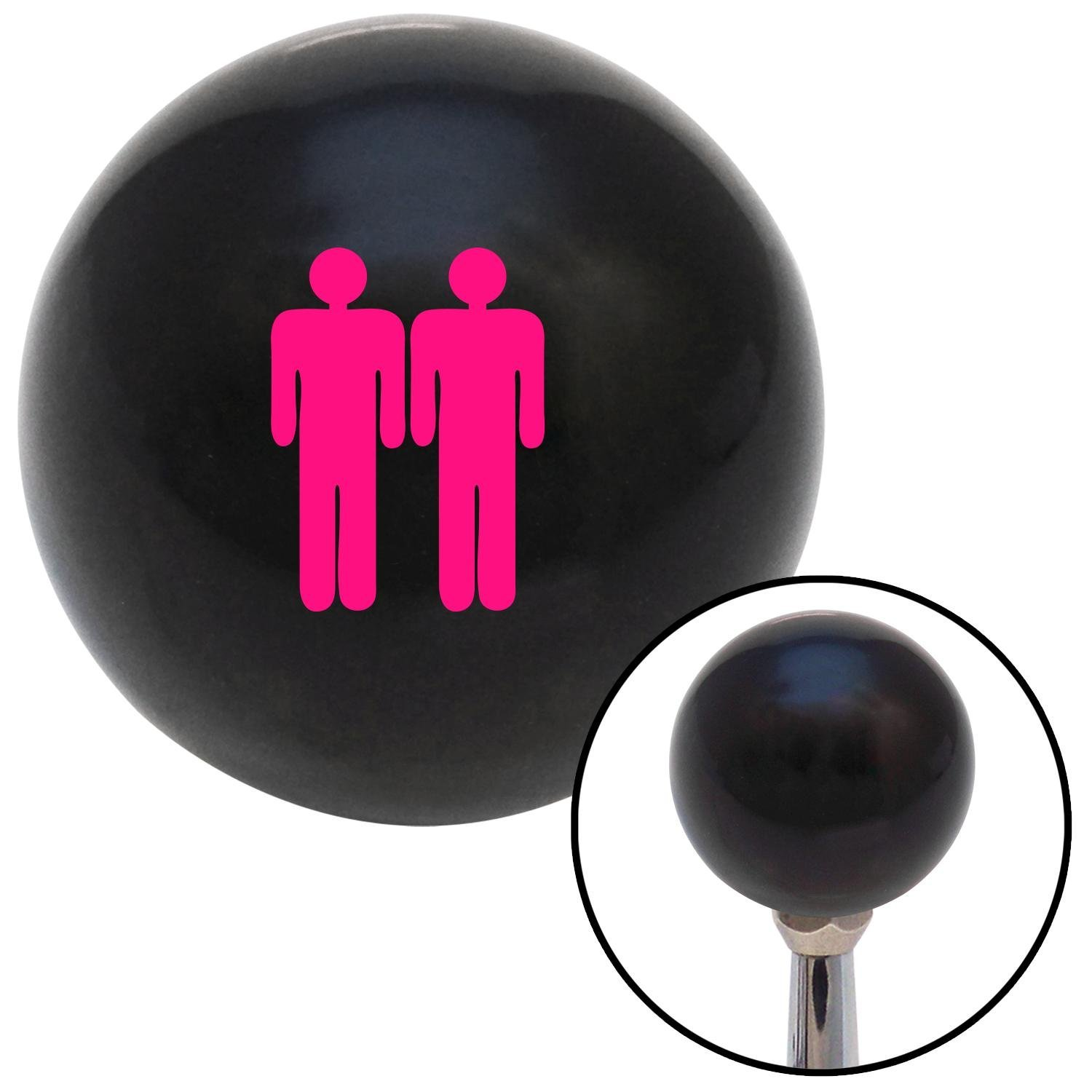 American Shifter 107802 Black Shift Knob with M16 x 1.5 Insert Pink Man Standing by Man