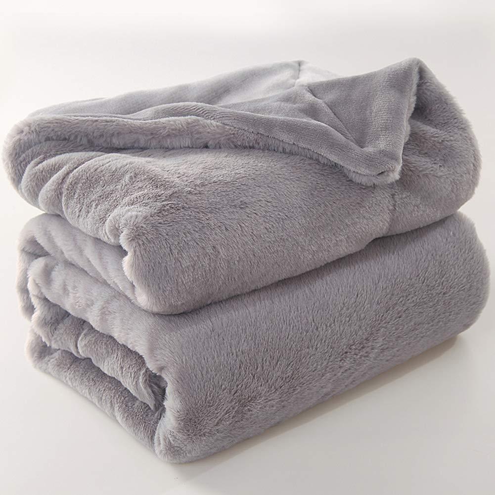 二重層 毛布 厚く コーラルフリース スロー 暖かい シート フランネル 日 (秒) ソファ 毛布 柔らかい肌に優しい 低 フリース ホワイト-A 200x230cm B07JMBF94C A 200x230cm
