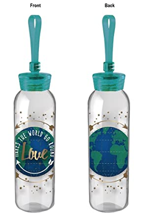 Cypress casa amor hace girar el mundo, doble cara para botella de agua de cristal
