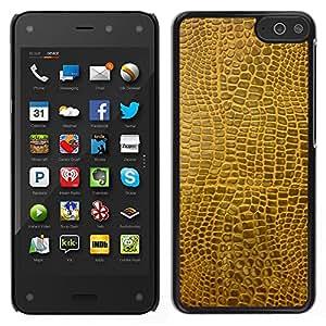 LECELL--Funda protectora / Cubierta / Piel For Amazon Fire Phone -- Textura material de Brown Faux Arte Aleatorio Moderno --