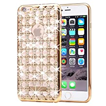iPhone 6s Plus & 6 Plus Diamond Case, KrygerShield® - Luxury Lightweight Super Skinny Agate Back Cover – Gold