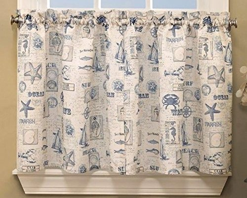 Delightful By The Sea Tier Pair 60Wx24L, Blue