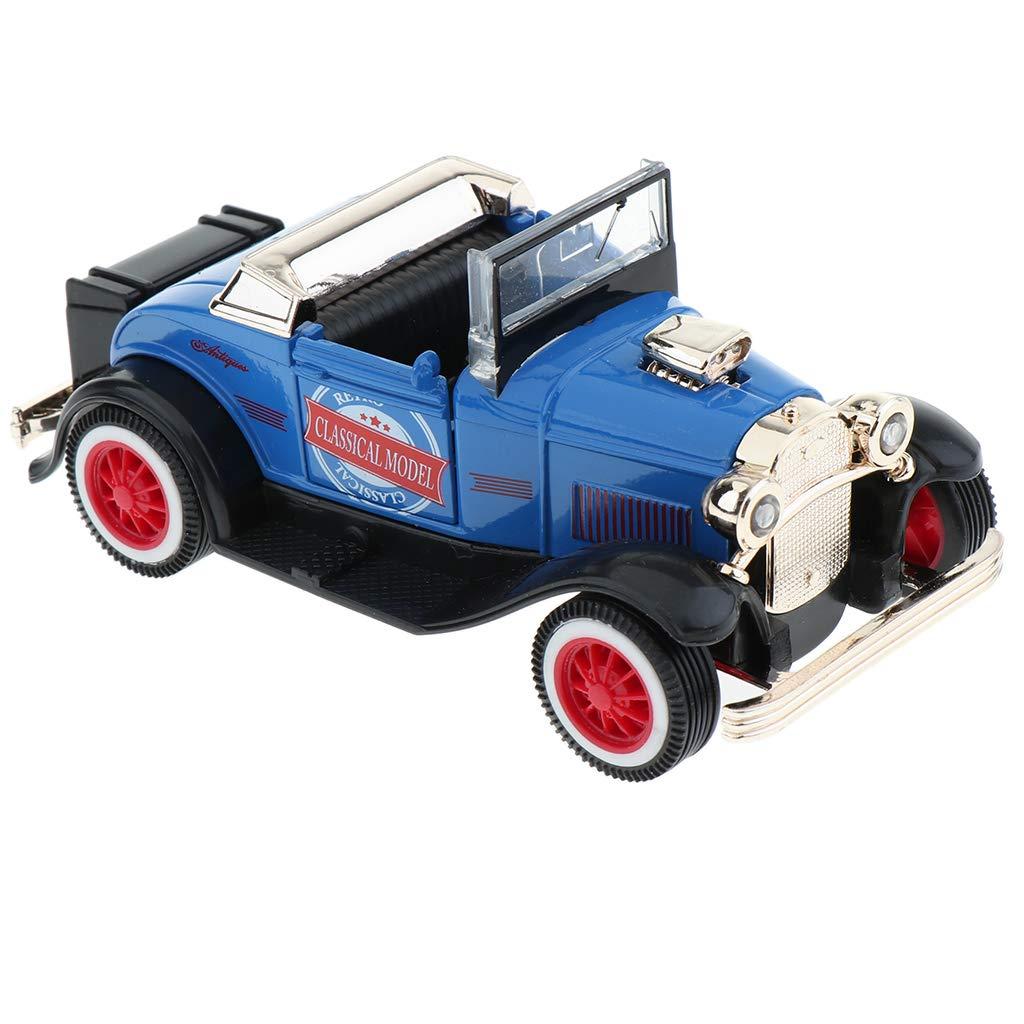 B Blesiya Jouet de Voiture Vintage Mini Auto avec Moteur Puissant /à R/éaction avec Phares Clignotants et Son Q5271-Green