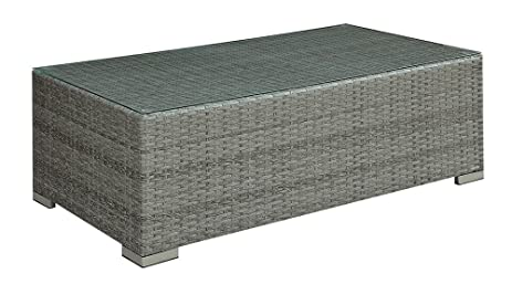 Merveilleux Richborne Grey Wicker Coffee Table In   Outdoor Patio