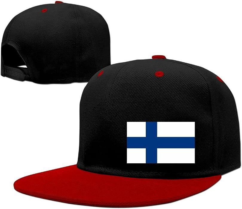 518d43db9ba ZhSeHhats Flag of Finland Adult Hip Hop Hat Contrast Color Snapback Hats  for Men