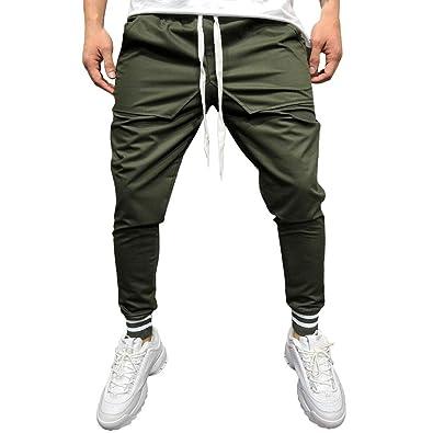 cffb30f00f7cf6 Amiley Men Sweatpants,Men's Casual Joggers Pants Drawstring Waistband  Closed Stripe Bottom Sweatpants (3XL