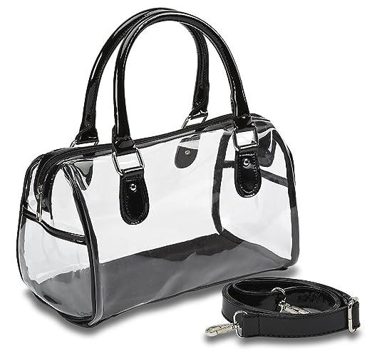1c63aa61afcb Amazon.com   Designer Inspired Clear Satchel Handbag   Top Handle Handbags    Beauty