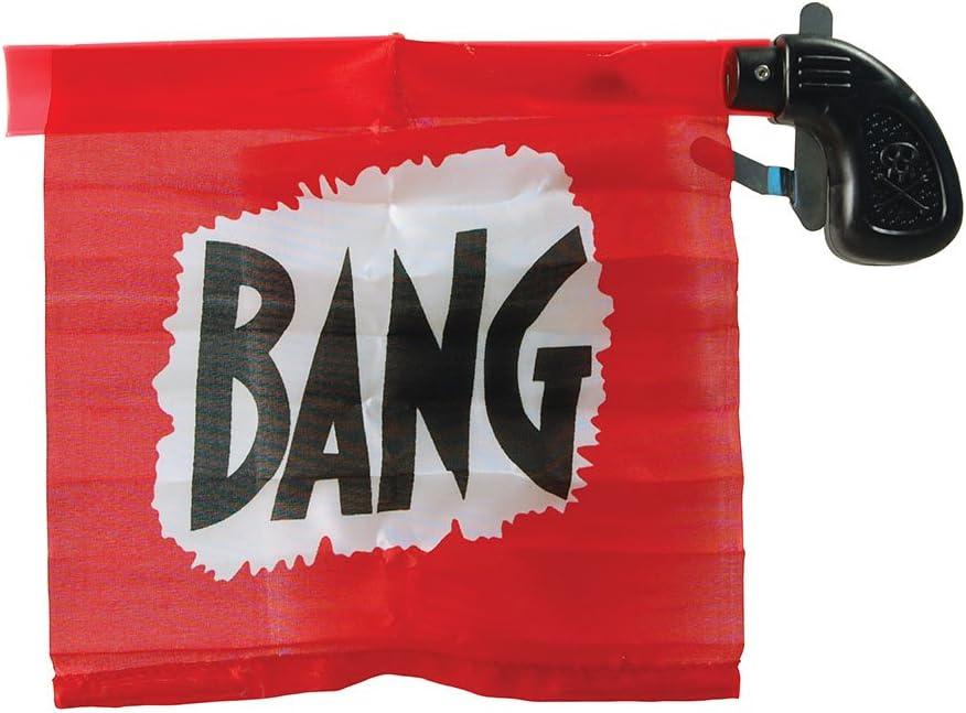 Desconocido Bristol Novelty - Pistola de payaso con banderín Bang| color rosa
