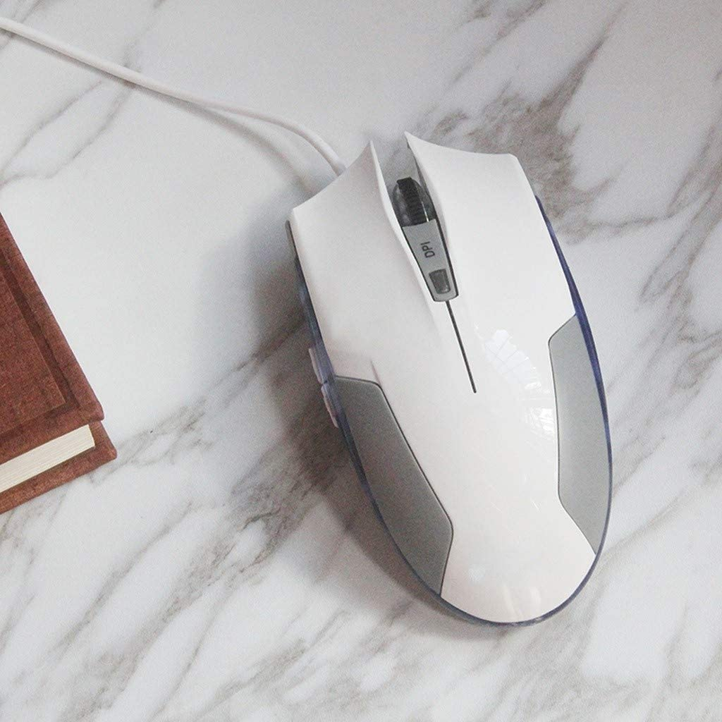 KQHSM Wired Gaming Mouse Notebook USB Computer Business Office Esports Integrated Mouse