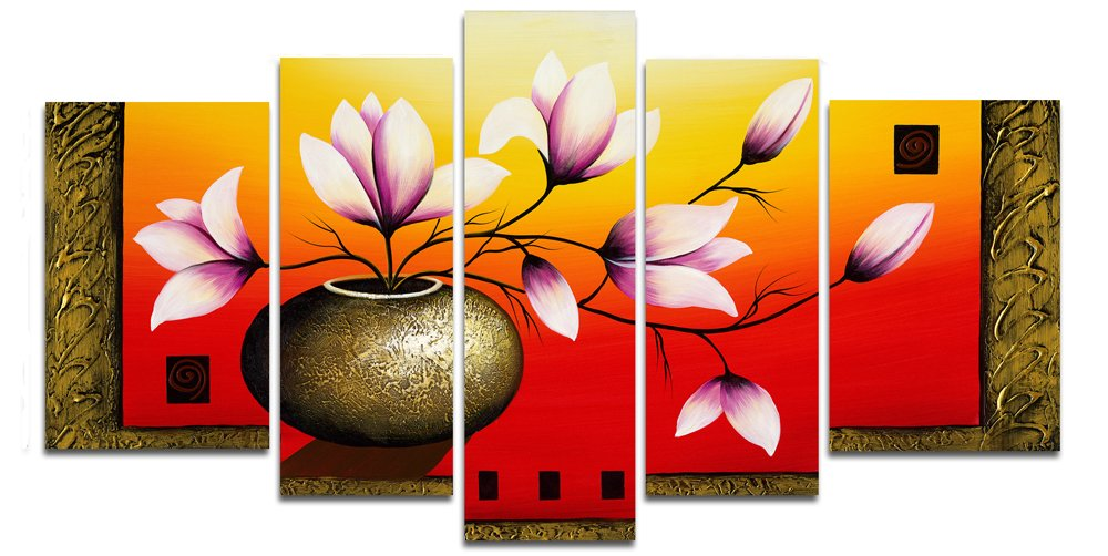 bueno abstract oversized canvas wall art set of 2 sets 5 amazon elegant flowers hand painted artwork oil paintings modern decoration home decorations floral canv
