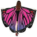 iDWZA Women Butterfly Wings Shawl Scarves Pixie