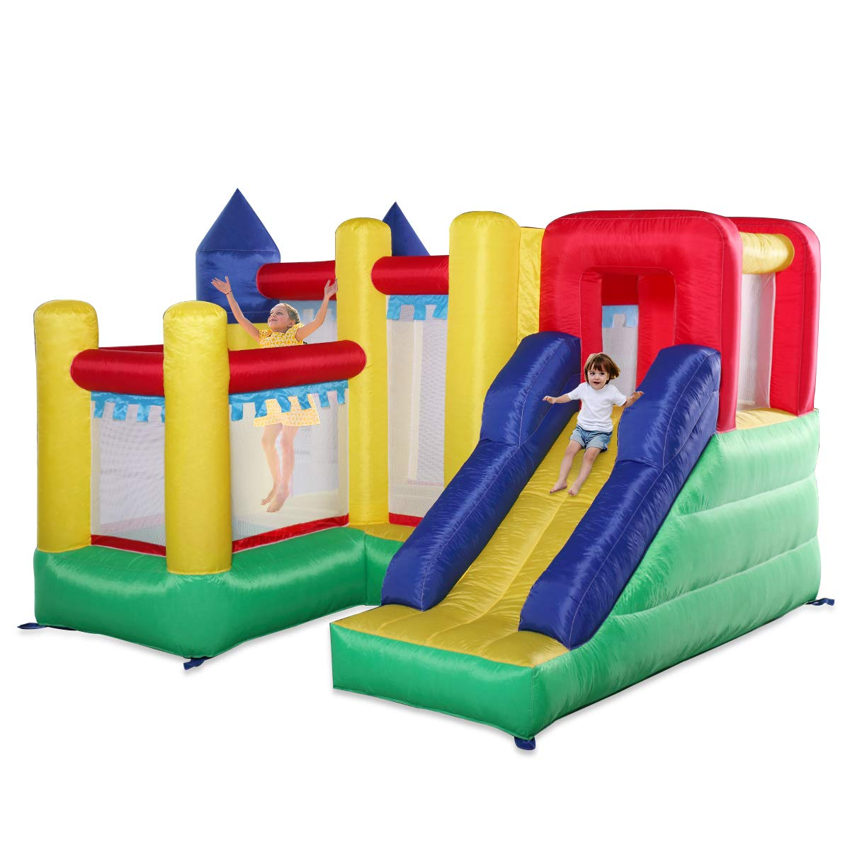 Kids Inflatable Bounce House Castle Jumper Slide Moonwalk Without Blower by BWM.Co (Image #9)