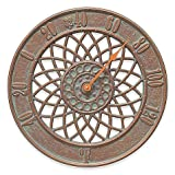 Whitehall Products Spiral Outdoor Thermometer in Copper Verdigris
