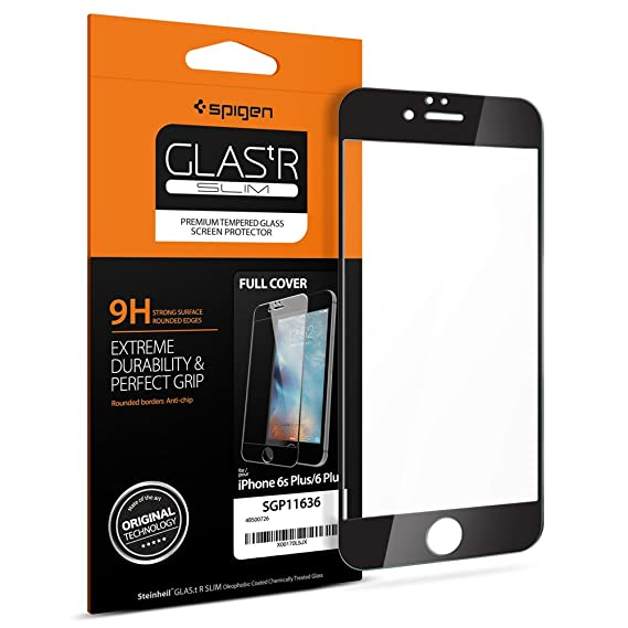 online store c60e4 0c36c Amazon.com: Spigen Full Cover Glass iPhone 6s Plus Screen Protector ...