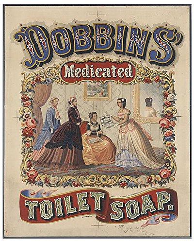 - Dobbins Medicated Toilet Paper Vintage Tin Sign Advertising