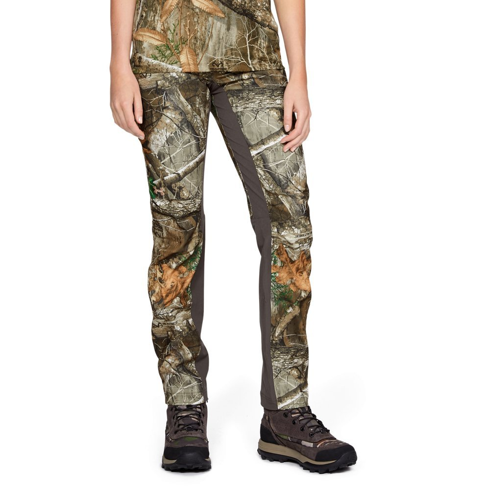 Under Armour Women's Fletching Pants, Realtree Edge (991)/Metallic Beige, 10 by Under Armour