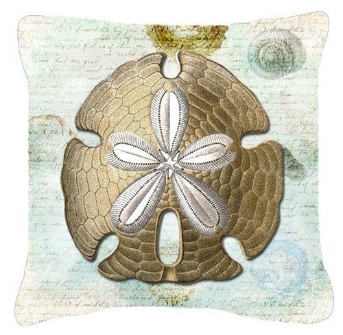 Carolines-Treasures-SB3025PW1414-Sand-Dollar-Canvas-Fabric-Decorative-Pillow-Large-Multicolor