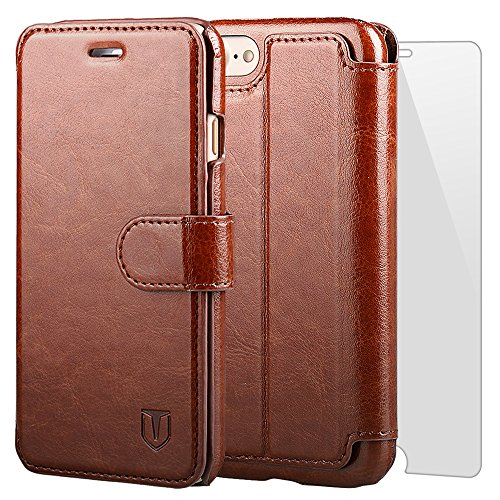 TANNC iPhone 7 Case Flip Leather Wallet Phone Case [Screen Protector Included][Card...