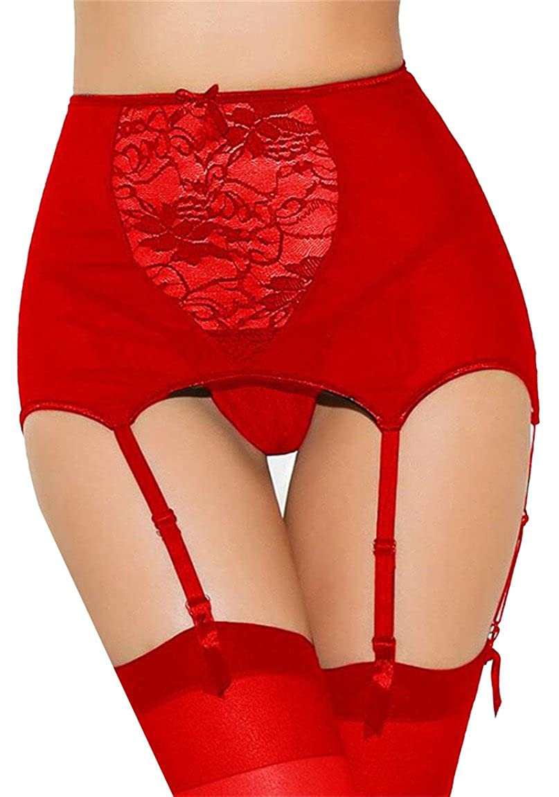 WSPLYSPJY Women's Lace Garter Belt and Stocking Sets