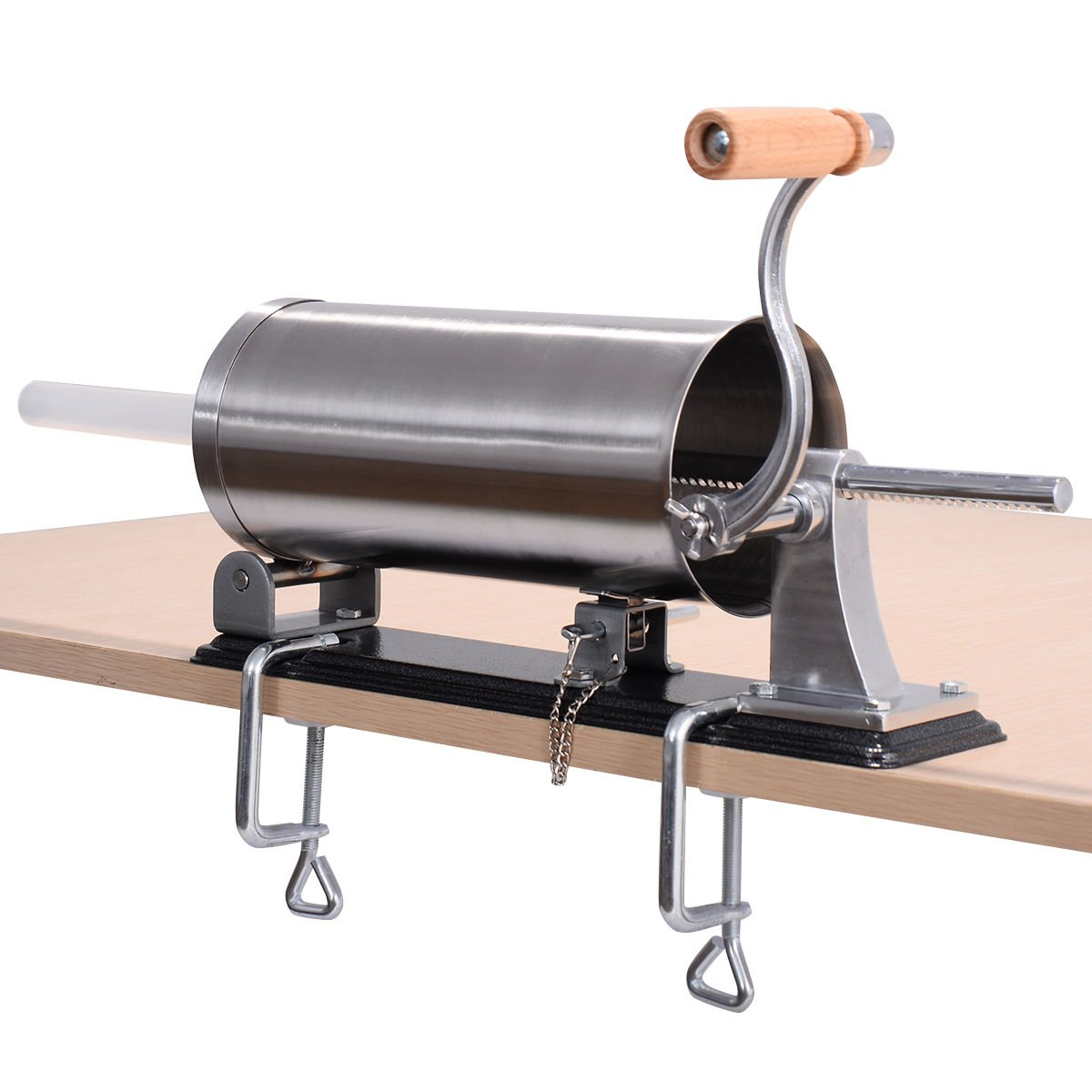 New 3.6L Sausage Stuffer Maker Meat Filler Machine Stainless Steel Commercial