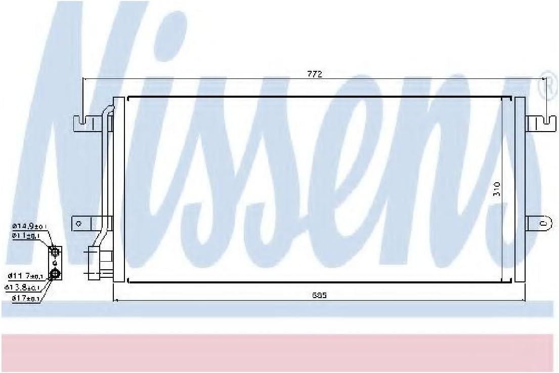 air conditioning Nissens 94524 Condenser