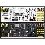 WallPeg pegboard panels, shelves, bins, locking peg hooks garage storage kit 96 W-B (Black)
