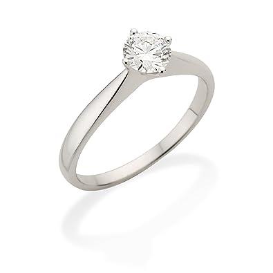 Miore 4 Claw Setting VS G H Round Brilliant 0 3 carat Diamond 18ct