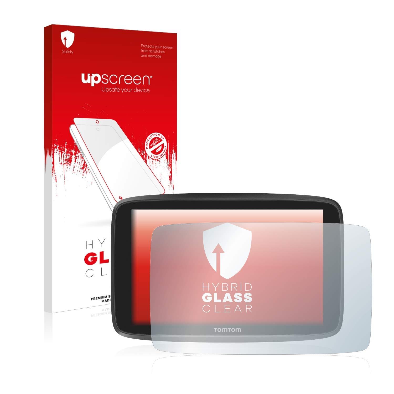 upscreen Hybrid Glass Panzerglas Schutzfolie kompatibel mit Tomtom Go Camper//Tomtom GO Essential 9H Panzerglas-Folie 6