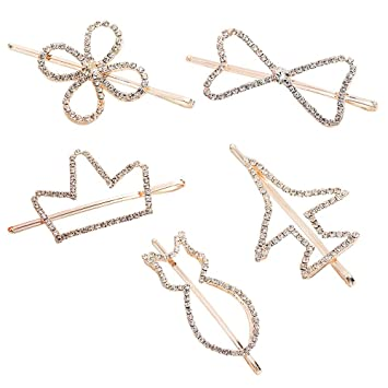 Handcrafted Rhinestone Hair Clip Handmade Bobby Pin One of a Kind Hair Accessory Soldered Wedding Hair Style Updo Bridesmaid 1000657