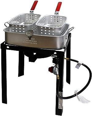 Chard TBAPF-18 Dual Fryer Basket Cooker 18qt