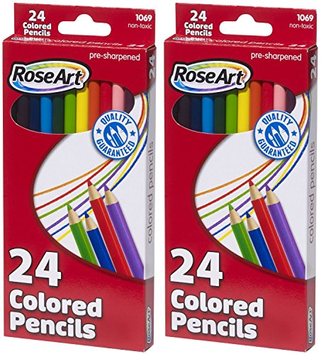 RoseArt Colored Pencils 24 Count Assorted product image