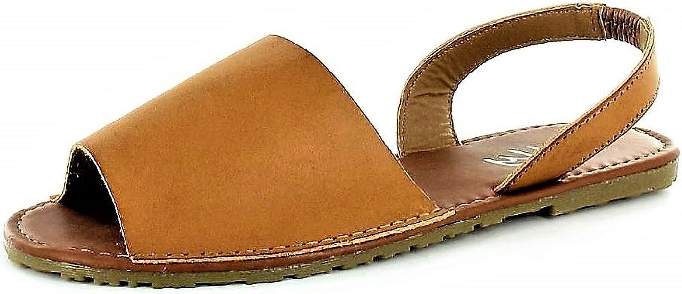 07365b97a Ladies ELLA Glitter Slingback Flat Menorcan Open Toe Spanish Sandals Beach  Summer Sandals Shoes Size 3 - 8 (6 UK