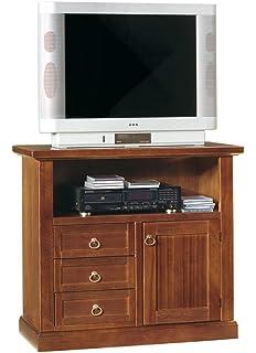 Mobile Porta Tv Stile Classico In Legno Massello E Mdf Con