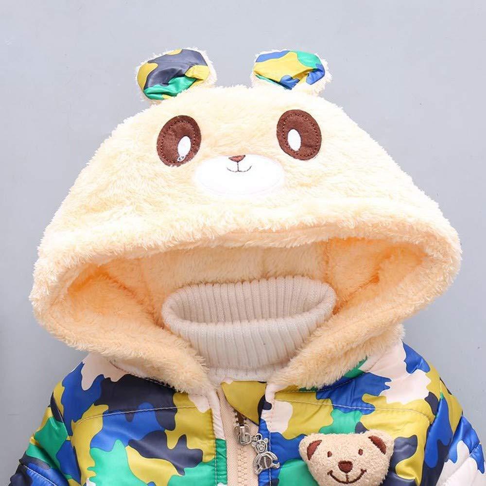 Lurryly❤Unisex Baby Camouflage Hoodies Hooded Jacket Windproof Coat Tops Warm Outwear 1-3T