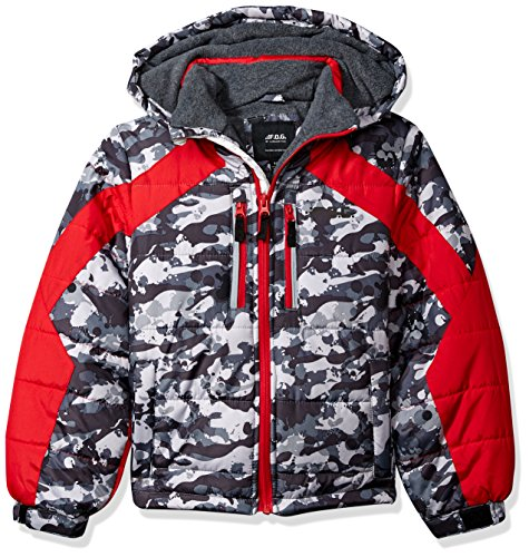 LONDON FOG Boys Active Heavyweight Jacket with Ski Cap