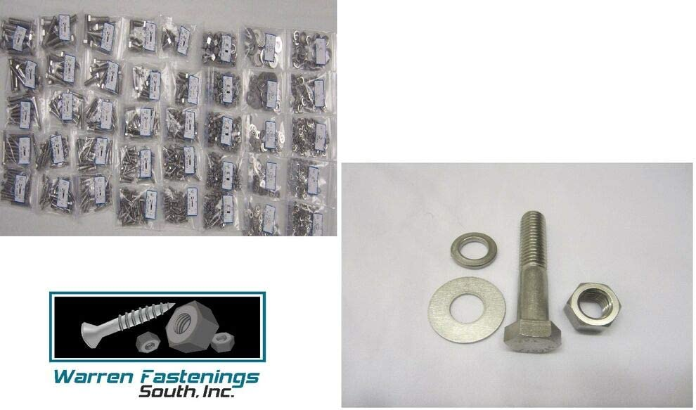 1255PC Stainless Steel Bolts USA Stocks NUT /& Washer Assortment with 40 Hole Bolt BIN