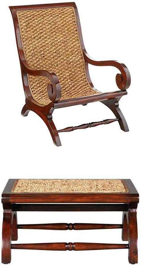 S/British Plantation Chair & Footstool