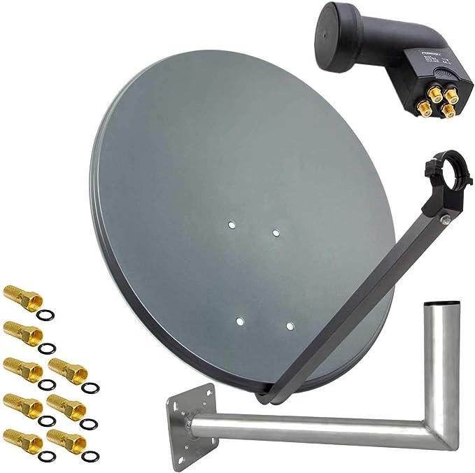 Premiumx Sat Anlage 80cm Anthrazit Satellitenantenne Elektronik