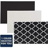 Black and White Stripe Fabric Memory//Memo Photo Bulletin Board for Paris Collection Sweet Jojo Designs B01N5QDYUF