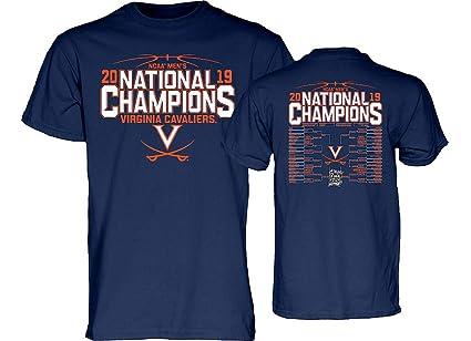 2bad5d8e0187 Elite Fan Shop UVA Virginia Cavaliers National Basketball Champions Tshirt  2019 Back Navy - M