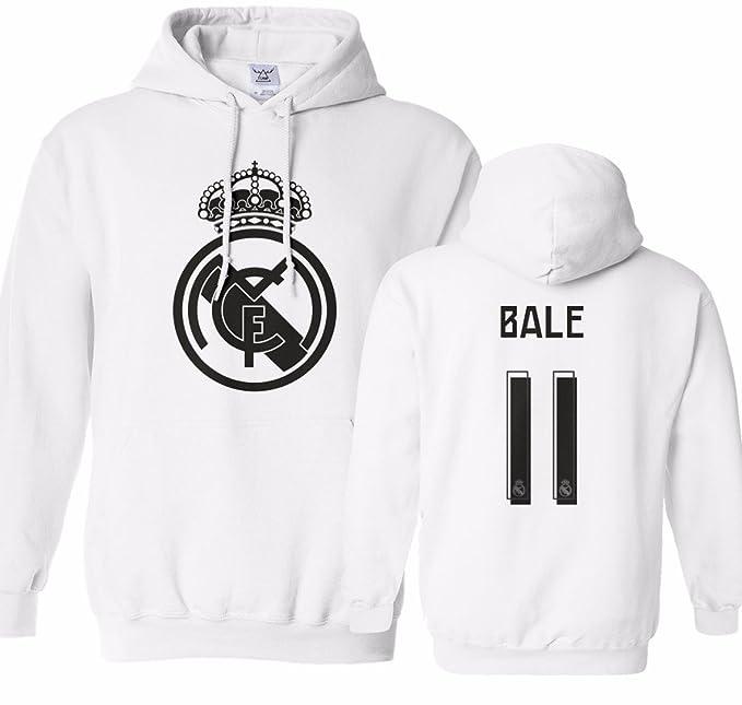 check out 1cda7 417ff Tcamp Real Madrid Shirt Gareth Bale #11 Jersey Men's Hooded Sweatshirt