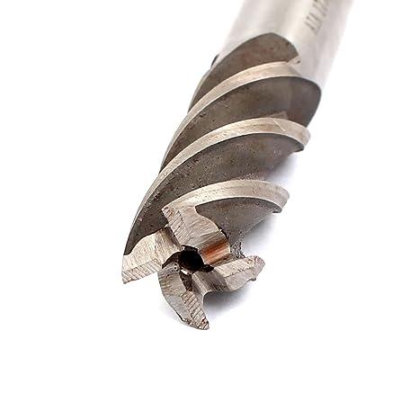 4 Nute Spiral HSS Material Schaftfr/äser Silber de DE de 16mm Schaft 17mm Schnitt Dmr