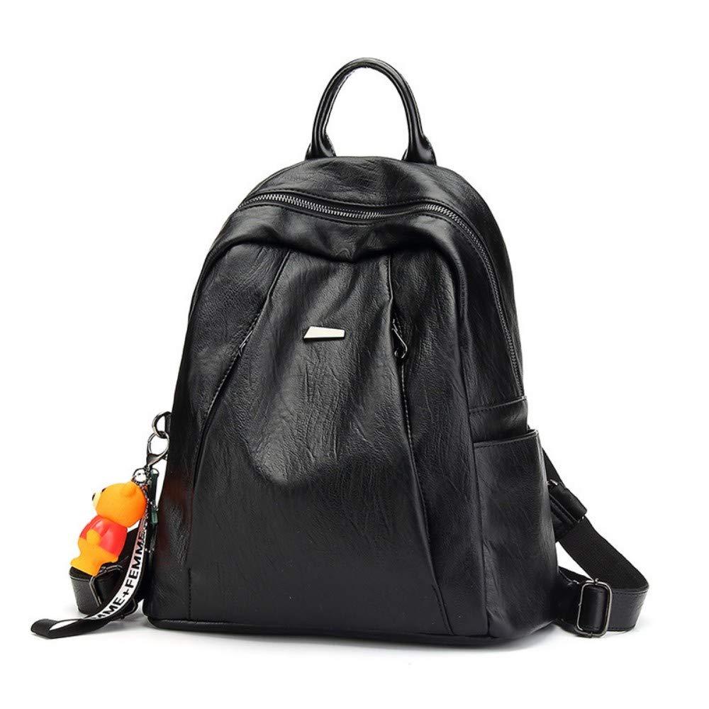 Zlk Backpack Black Backpack Fashion Waterproof Backpack Large Capacity Outdoor Travel Bag