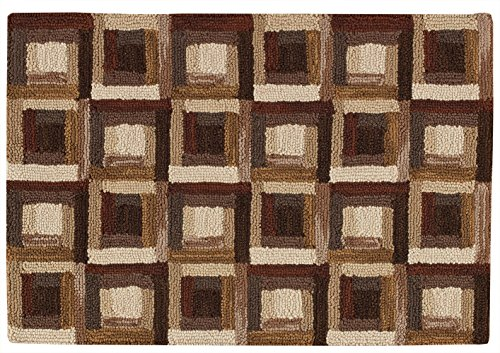 Park Designs Log Cabin Hooked Rug, 24 x (Hooked Rectangle Rug)